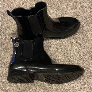 Michael Kors women's black rain boots